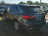 2014 Acura MDX REAR DECKLID TAILGATE GRAY Replacement