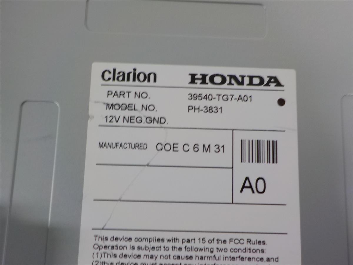 2016 Honda Pilot DISPLAY SCREEN 8  Replacement