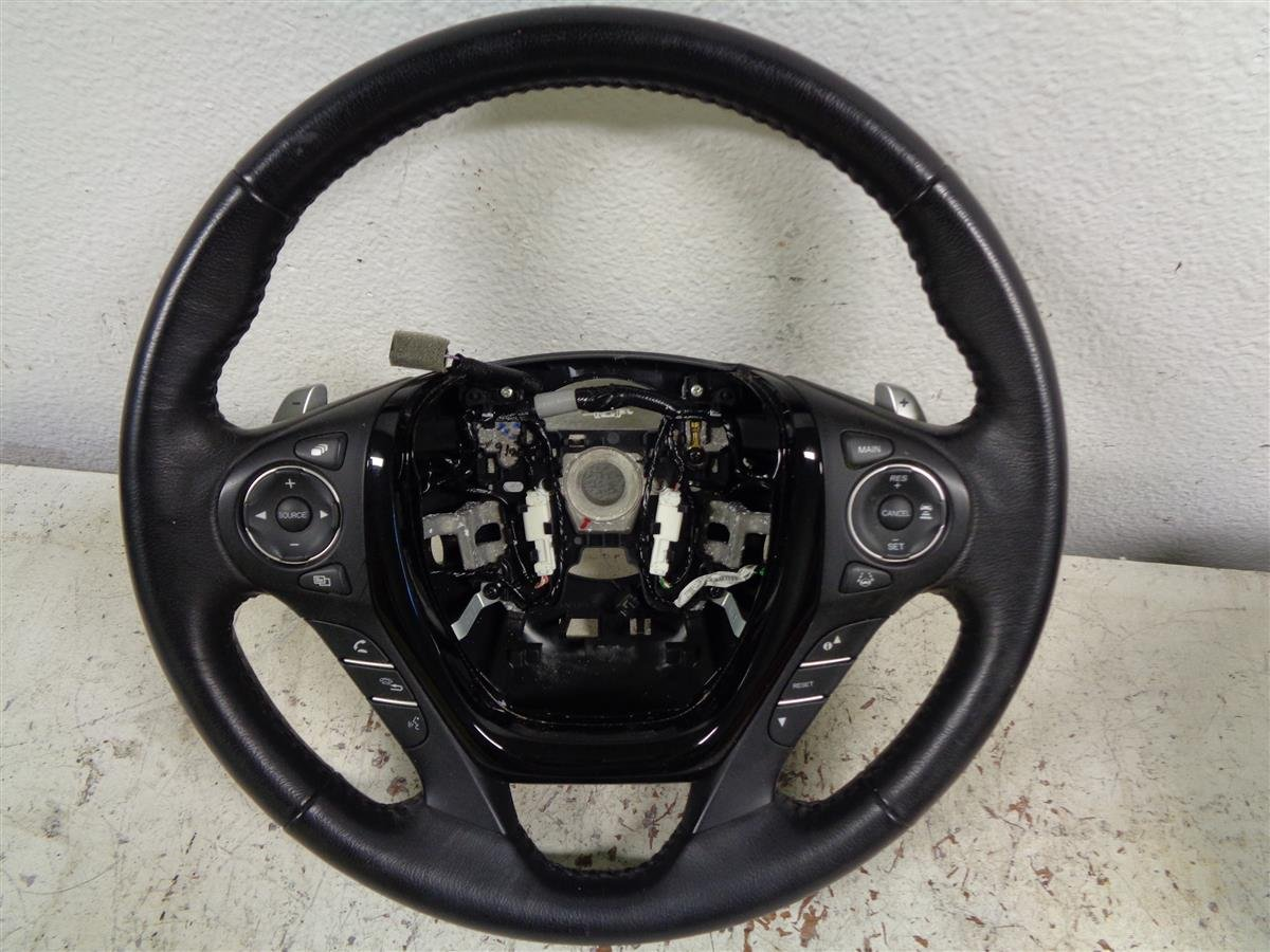 2016 Honda Pilot STEERING WHEEL BLACK LEATHER Replacement