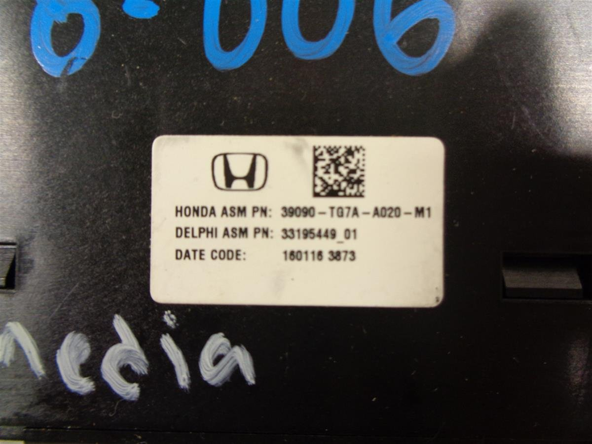 2016 Honda Pilot Media Hub Communication Module 39090 TG7 A02 Replacement