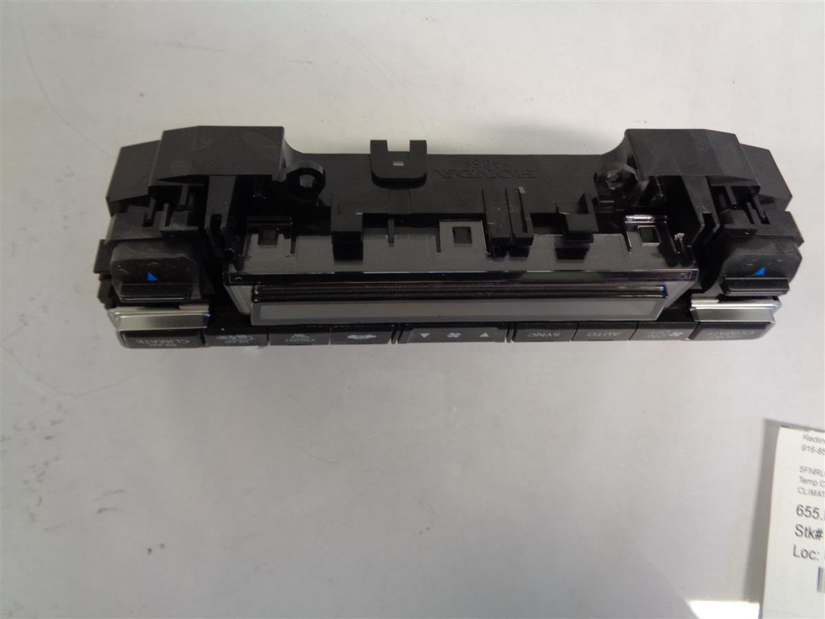 2018 Honda Odyssey Climate Control Unit Replacement