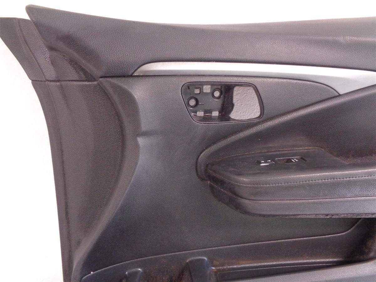 2016 Honda Pilot Front Passenger Black Door Panel Leather Replacement