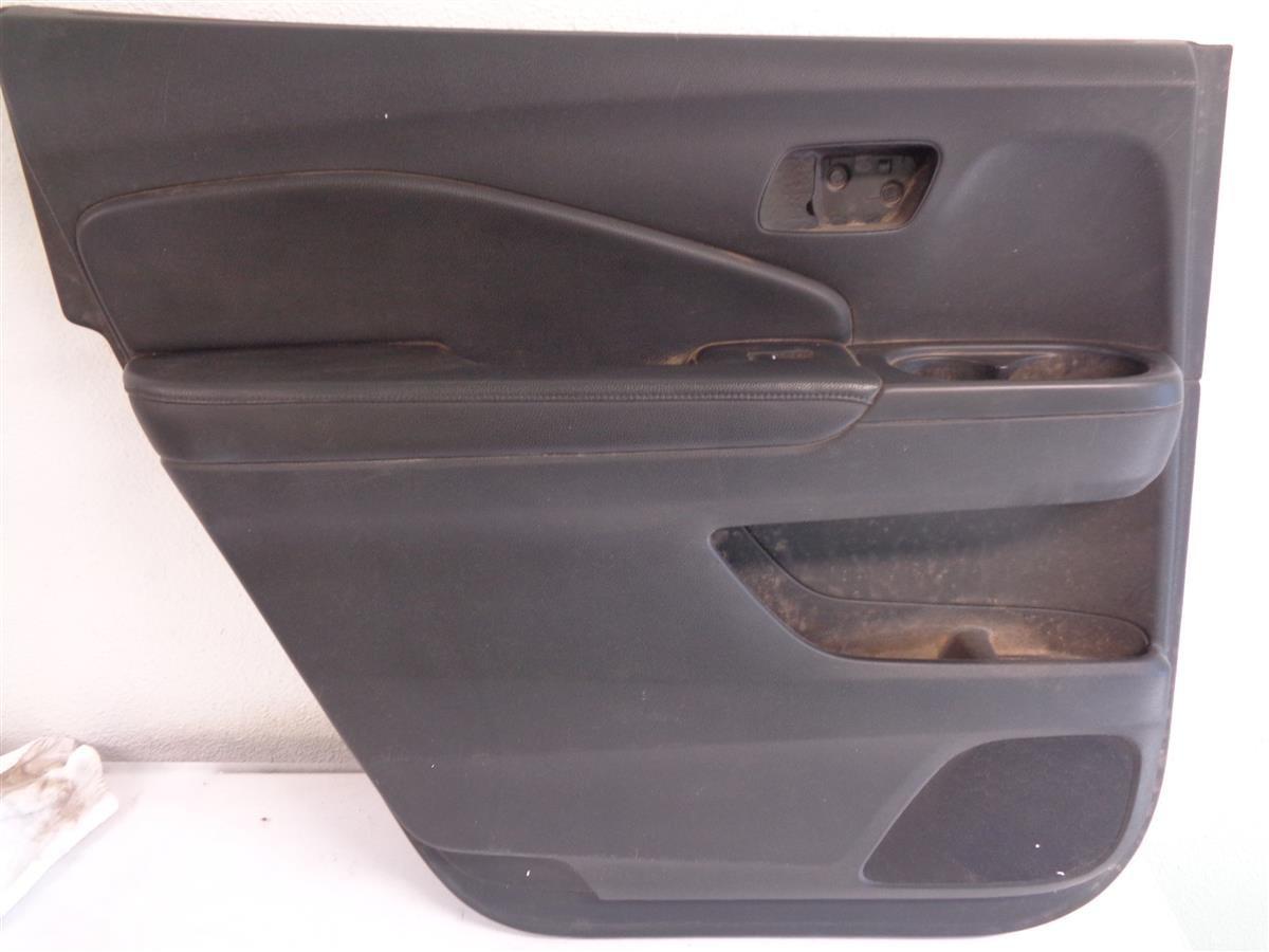 2016 Honda Pilot Rear Driver Door Panel Black Leather Ex l Replacement