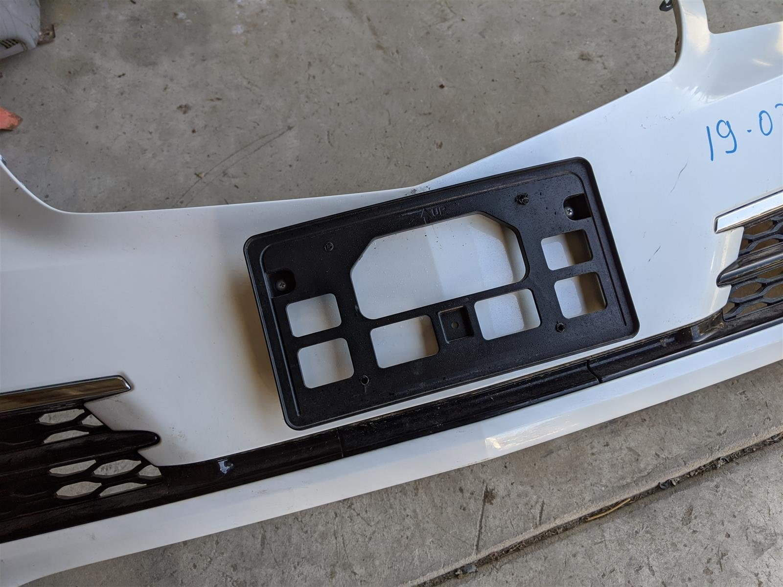 Sold 2015 Acura TLX Front Bumper Cover White Replacement