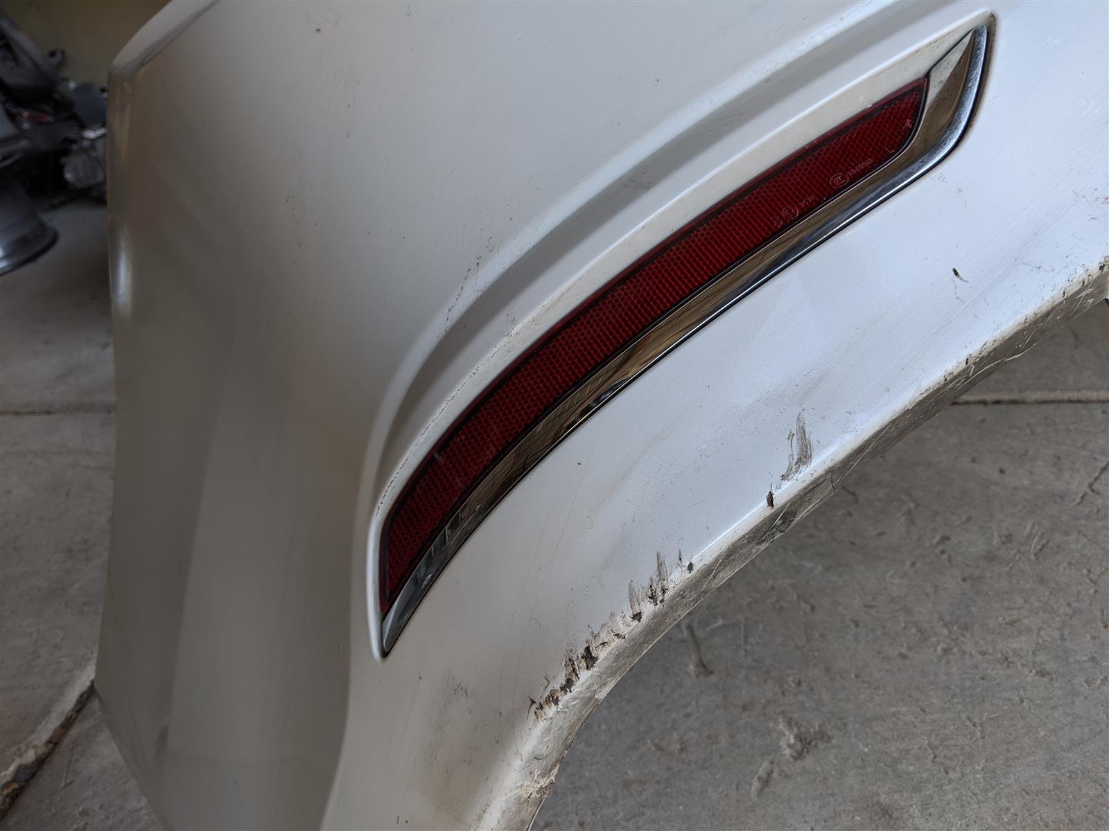 2015 Acura TLX Rear Bumper Cover White Replacement