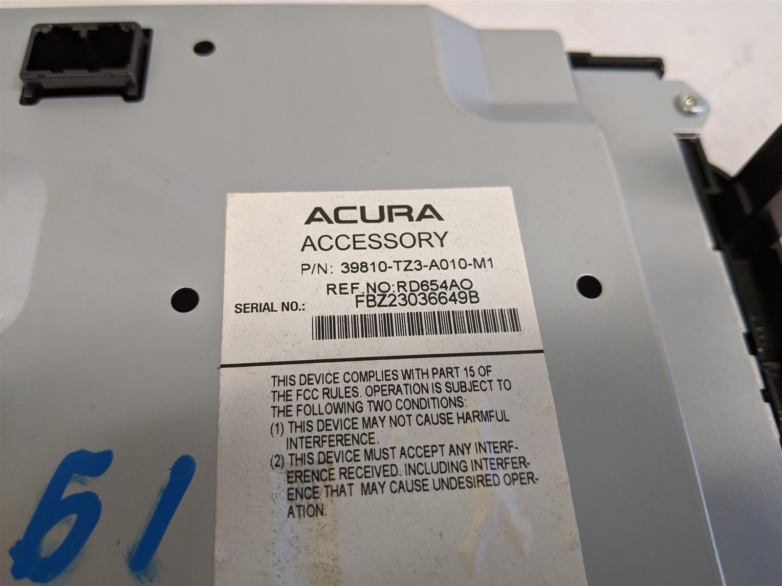 2015 Acura TLX Upper Display Screen Replacement