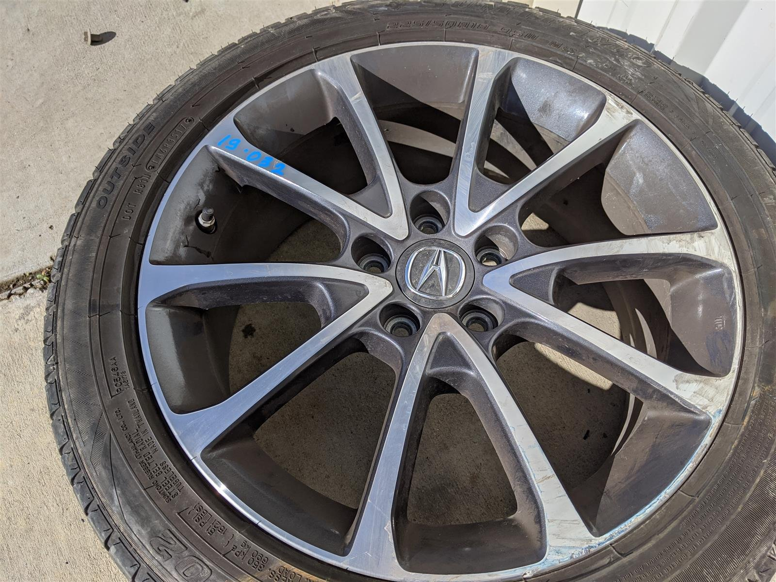 Sold 2015 Acura TLX 18x7.5 10 Spoke Alloy Wheel Replacement