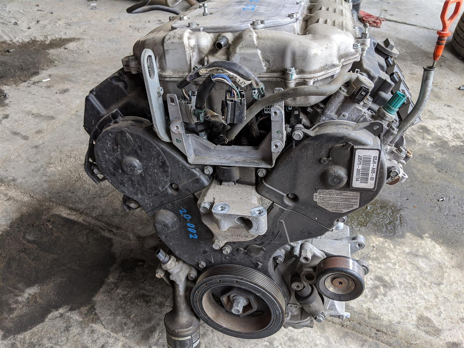 2016 Acura MDX Awd Engine Longblock Replacement