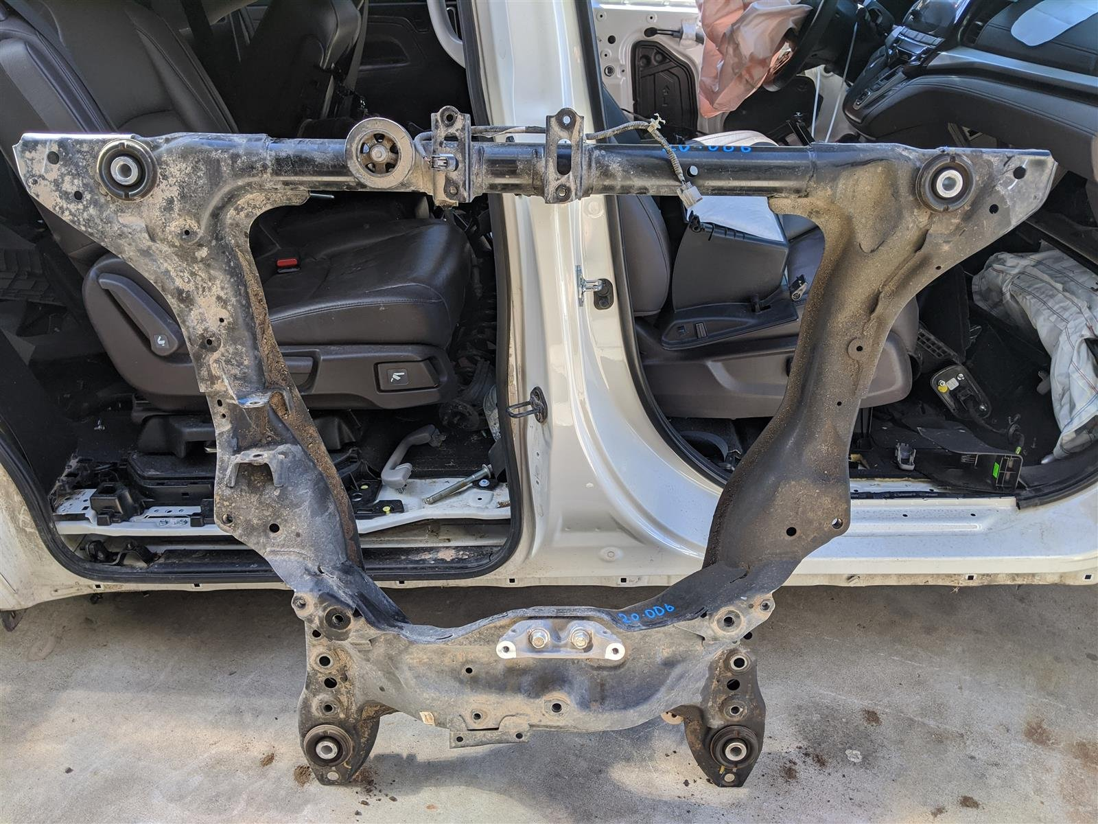 2018 Honda Odyssey Front Subframe Engine Cradle Beam Replacement