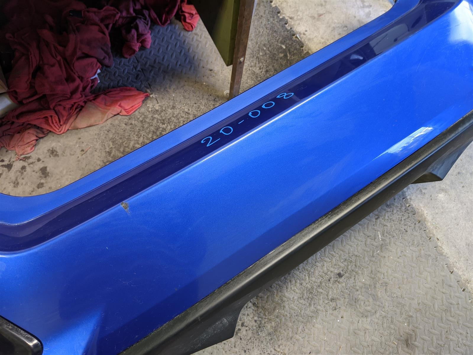 2018 Honda Civic 4dr Si Rear Bumper Cover Blue Replacement