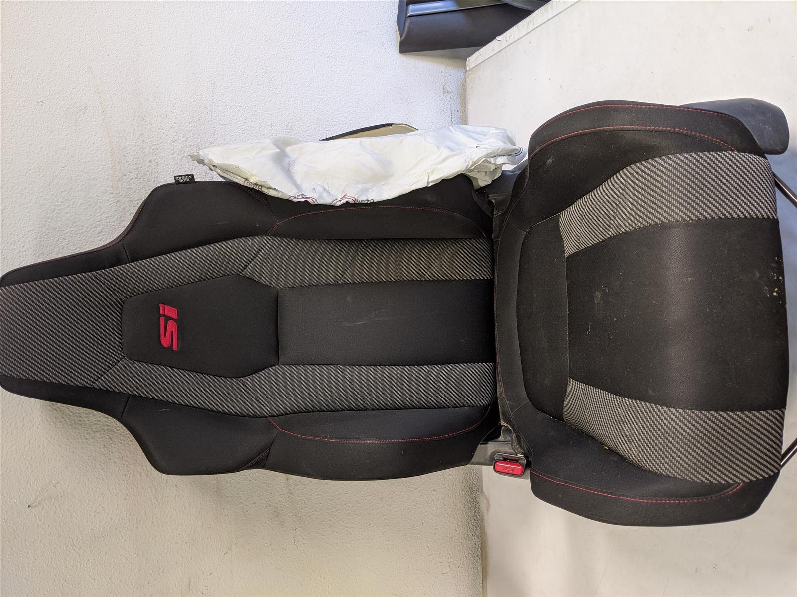 2018 Honda Civic 4dr Si Front Driver Seat Heated, Bag Blown Replacement