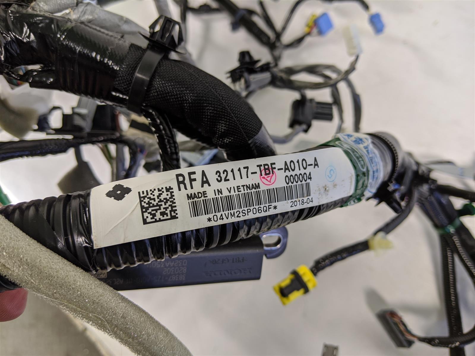 2018 Honda Civic Si Dash Wire Harness Replacement
