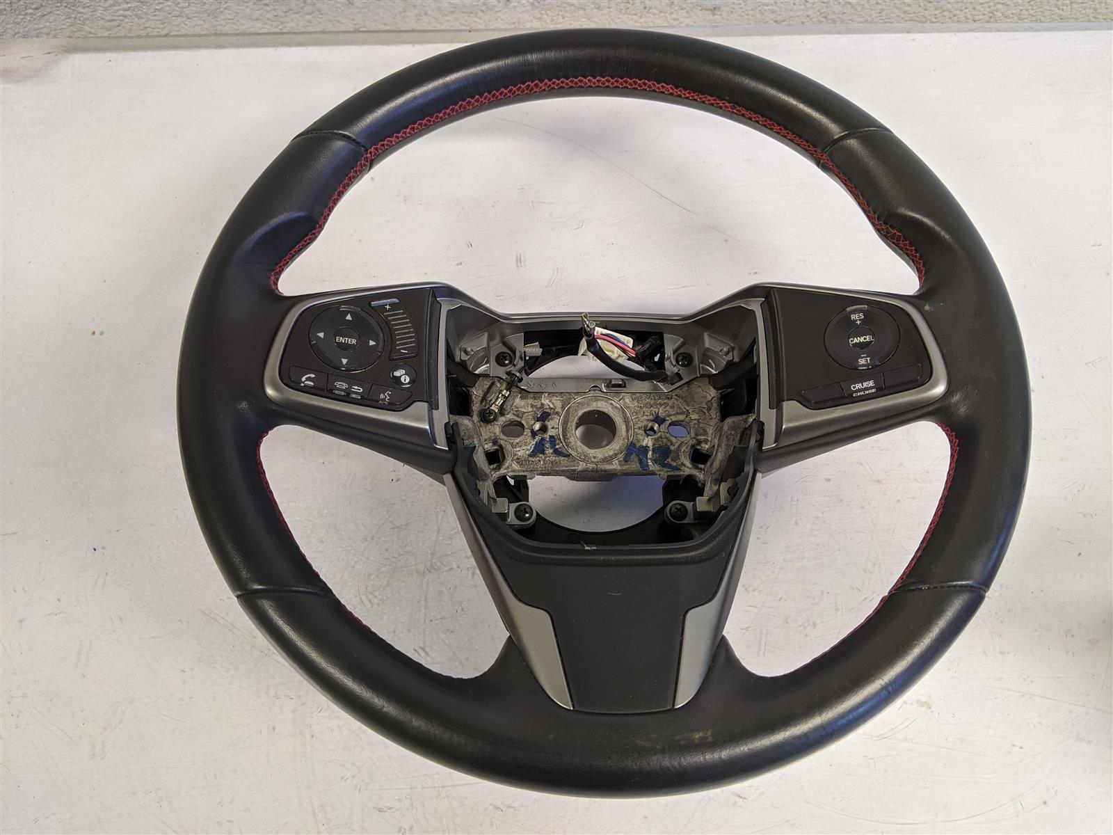 2018 Honda Civic Steering Wheel Black Replacement