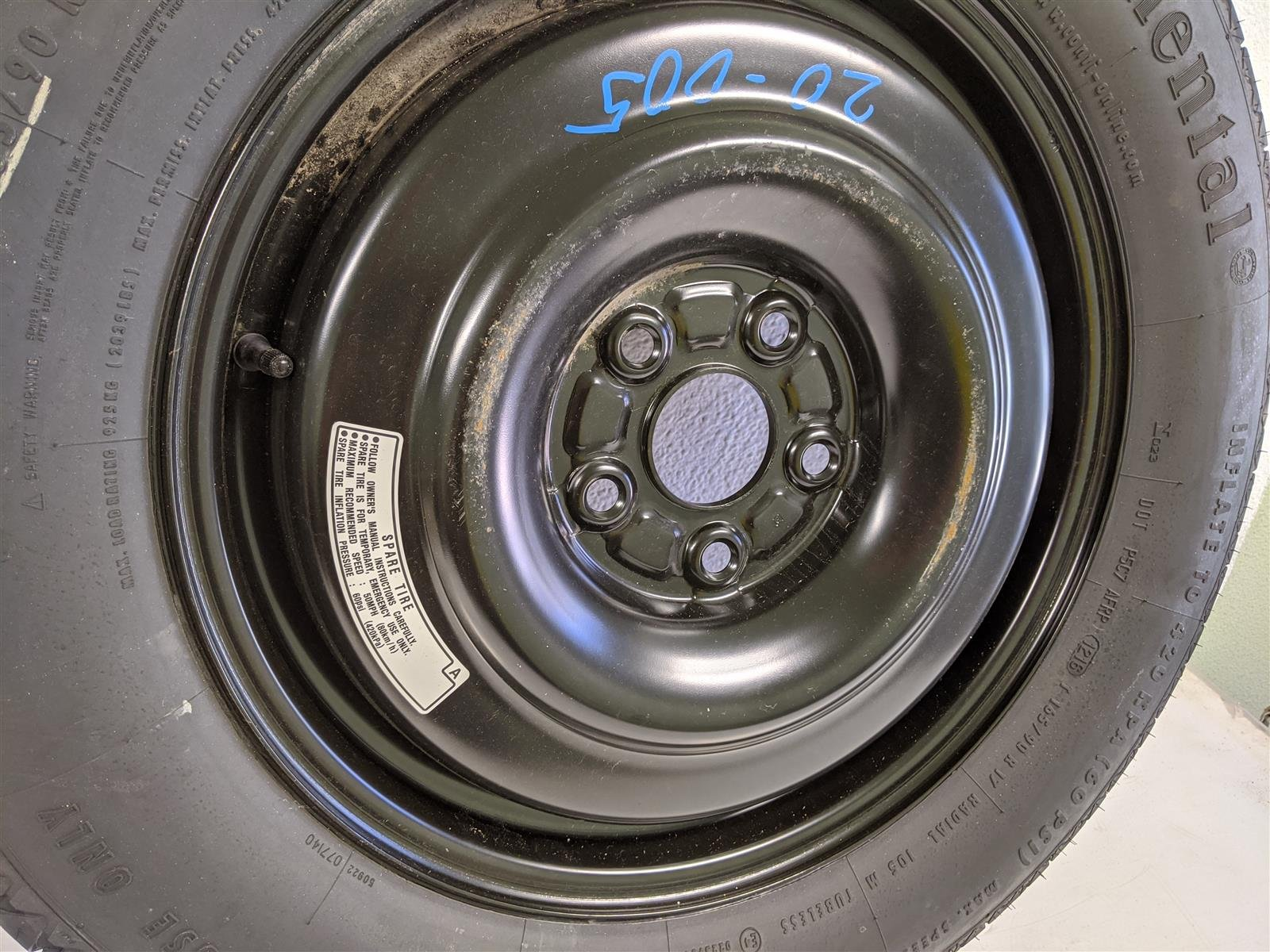 2017 Honda Ridgeline 17 Inch Spare Rim And Tire, Nice Replacement