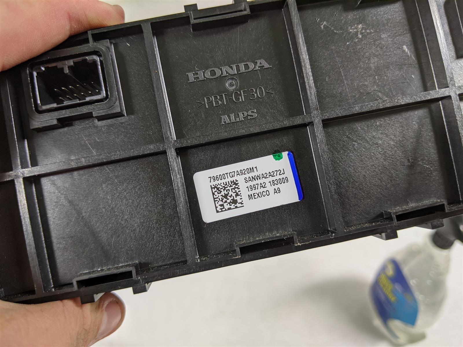 2017 Honda Pilot Elite Front Ac Heater Climate Cont Replacement
