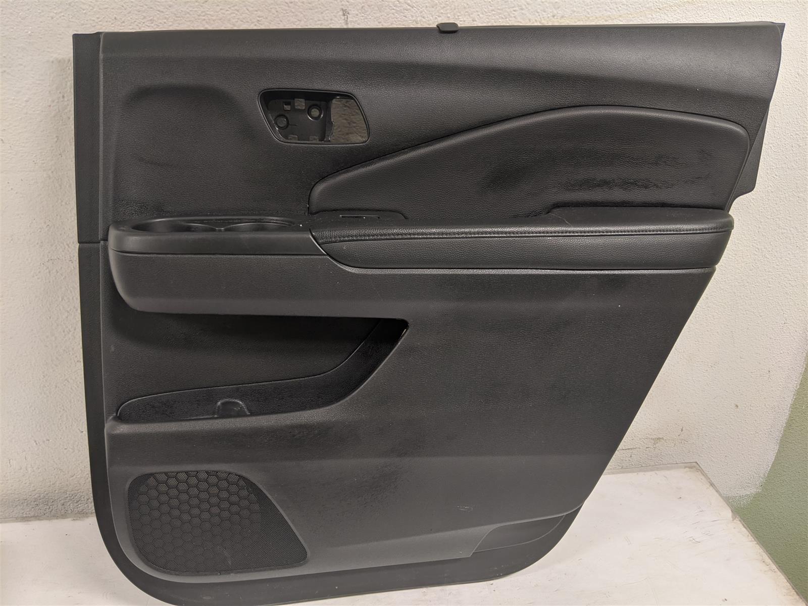 2017 Honda Pilot Rear Passenger Door Panel Black, Sunshade Replacement