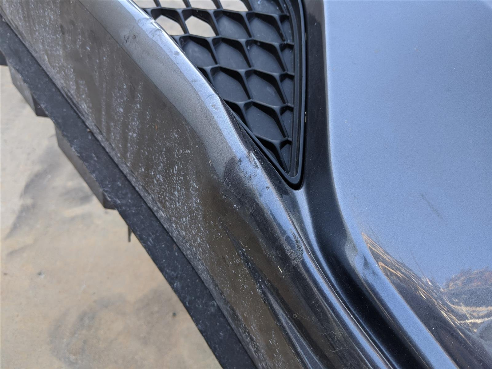 2018 Honda Odyssey Front Bumper Gray Dents Replacement