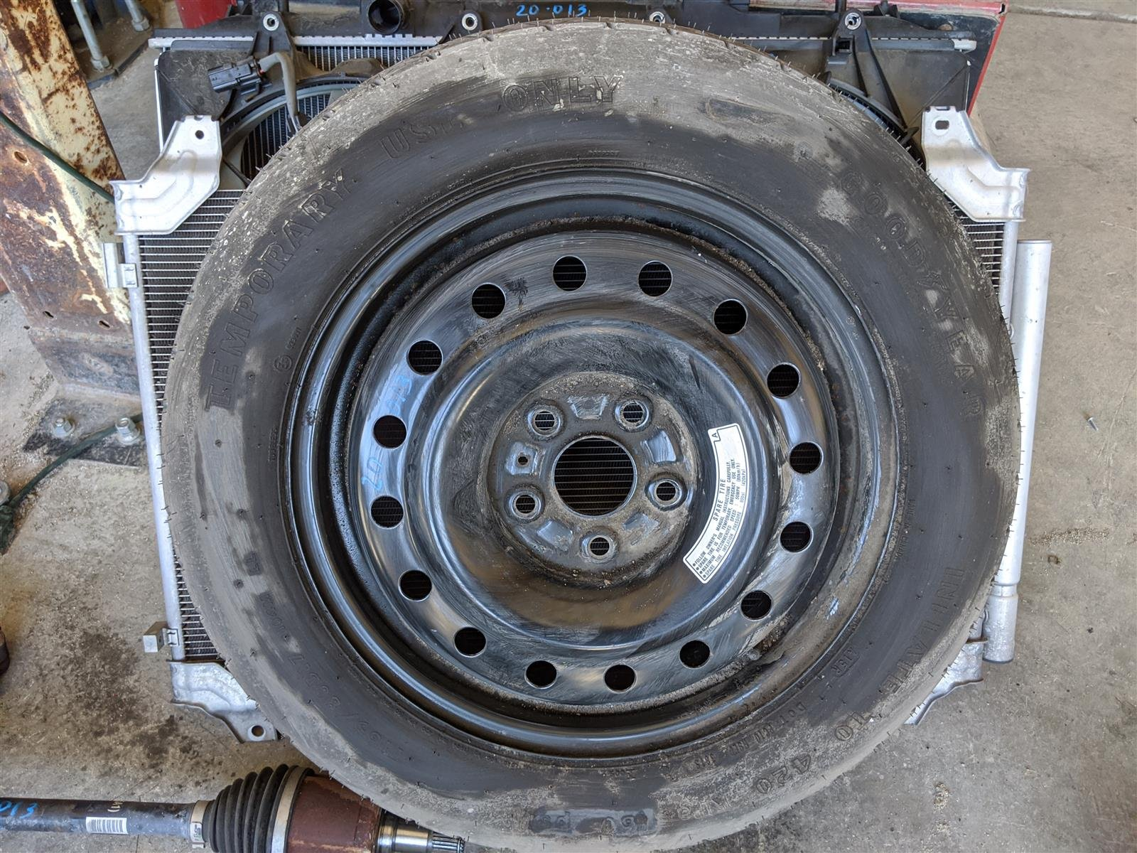 2016 Honda Pilot 17 Inch Spare Rim And Tire Replacement