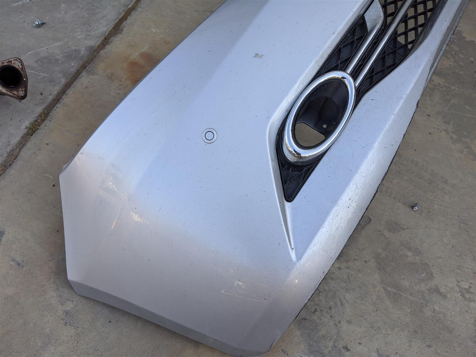 2014 Honda Odyssey Front Bumper Cover Silver, Replacement