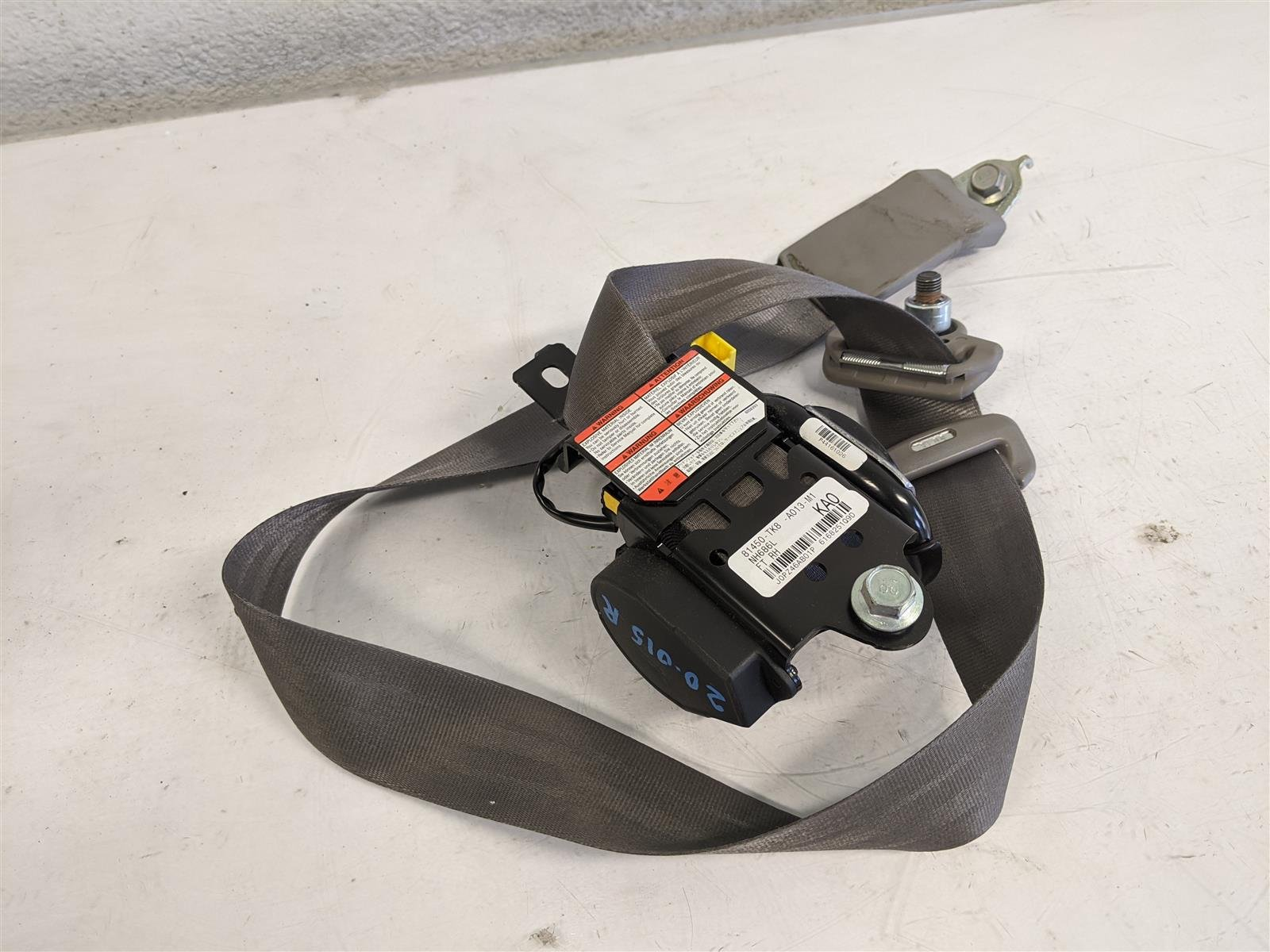 2014 Honda Odyssey Front Passenger Seat Belt Gray Replacement