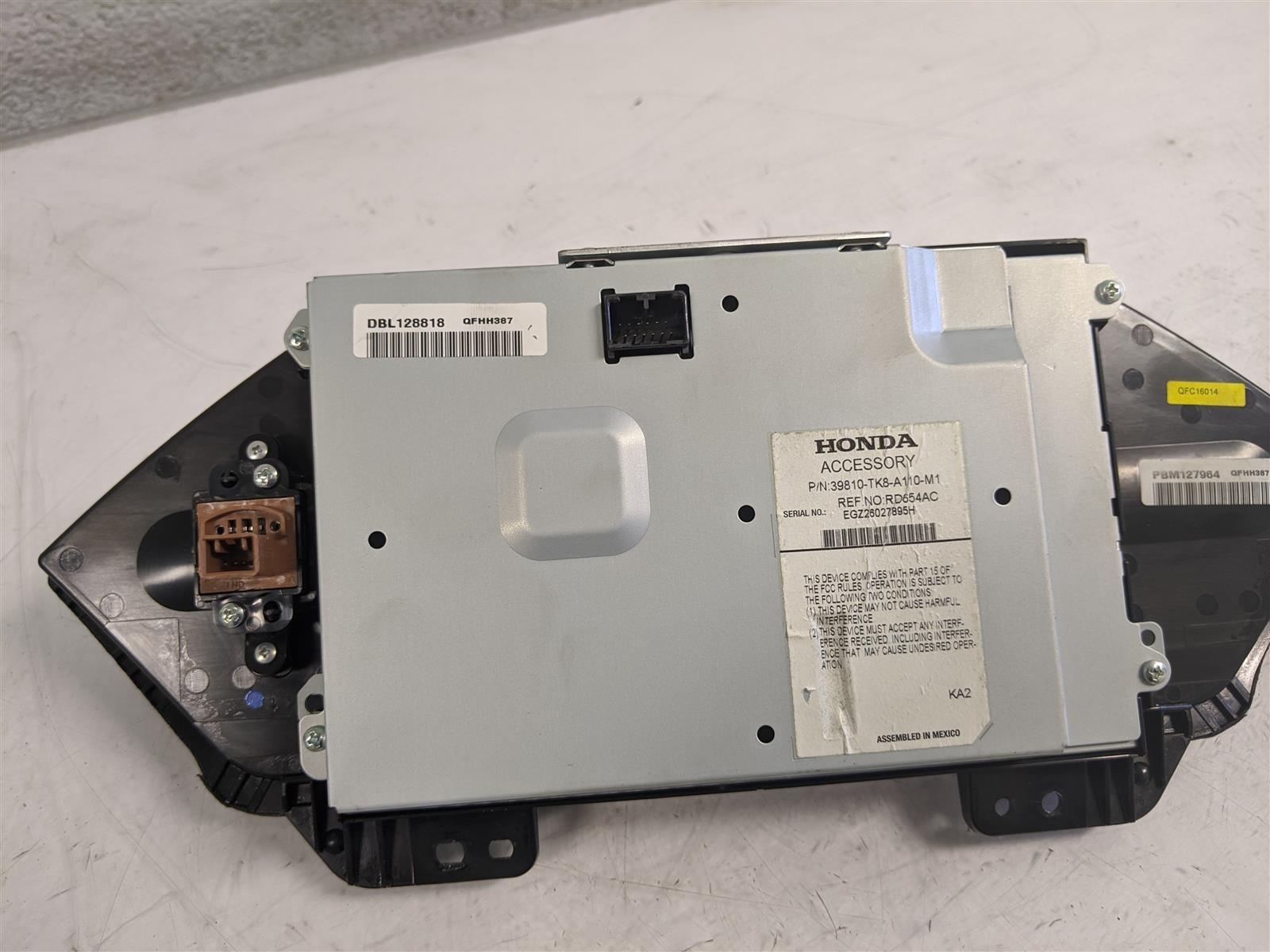 2014 Honda Odyssey Upper Display Screen Replacement